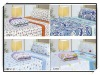 Solid color polar fleece home and hotel bedding sheet set