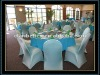 Spandex /Nylon Chair Covers in Turquoise blue colors