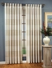 Square linen look curtain