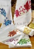 Strass embroidered dove bird towels