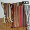 Striped Cotton Velvet Cushion