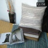 Striped Faux Suede Throw and Cushion Set
