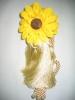 Sunflower curtain tassel