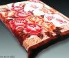 Super soft,Design Mink,orange,plush mink,100% polyester blanket