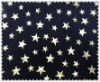 T/SP foil star on printed fabric