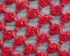 Taffeta Ribbon  flower Embroidery Fabric