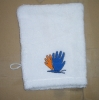 Terry towel embroidery bath glove