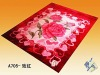Three-dimensional cut flowers, duplex acrylic blankets