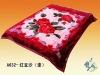 Three-dimensional cut flowers, duplex acrylic blankets