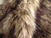 Tip-dyed & jacquard imitation raccoon skin faux fur