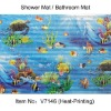 Transfer Printing Shower Mat,Toilet mat,bath mats