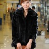 Transition color fashion exotic fur coats for women