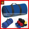 Travel roll up fleece blanket