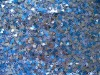 Triangle two tone Sequins Embroidered fabric