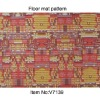 V7139-Printed Design PVC Floor rugs,Red carpet
