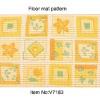 V7183-PVC Foamed Modern Printed Area Rug,Floor mat runners