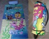 Velour Printed Beach Towel inflatable Pillow