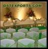 WEDDING CHAIR COVER WITH GREEN SASHA