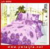 Wedding 4 pcs bedding set/ purple flowers print bedding set/ good quality bedding set/low price and good quaality badlinen