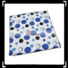 White Blue Circle Throw Pillow Case Cushion Cover