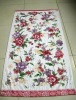 White jacquard printing towel