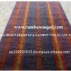 Wool Hemp Cotton Colorful Striped Carpet