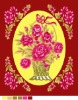 Woven polyester red flower printed blanket