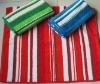 Y/D stripe cotton bath towel
