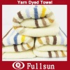 Yarn Dyed Towel With Embroidery