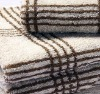 Yarn dyed bath towels 100 cotton