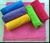Yarn-dyed velour bath towel for children