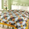 Yellow 100% Cotton Printed Quilt