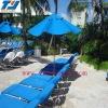 a set of leisure cushion and umbrella