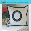 abstract dot pop printed linen cushion