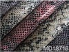 animal crocodile grain PU leather with embossed design in wenzhou