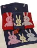 animal kawaii pattern yarn dyed 100 cotton fiber durable high quality