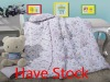 animal pattern printed cotton baby quilt set