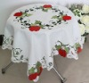 apple embroidery  tablecloth