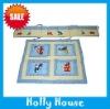 appliqued flower children quilt