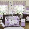 baby purple print bedding