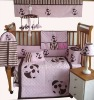 baby unisex bedding set with ladybird emb MT1022