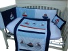 baby unisex bedding set with sailer emb MT1019