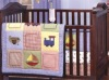 baby unisex cute emb cars bedding set MT6959