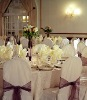 banquet chair cover&organza sash, polyester chair cover,wedding chair cover