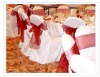 banquet lamour satin chair cover with organza sash and fashion chair cover
