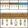 beaded fringe and gimp beads for curtain
