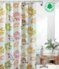 beautiful shower curtain with 12pcs plastic hooks