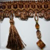 beautiful tassel fringe with balls for curtain