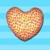 bed pillow/heart pillow