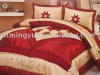 big flower 100% polyester Taffeta bed sheet set